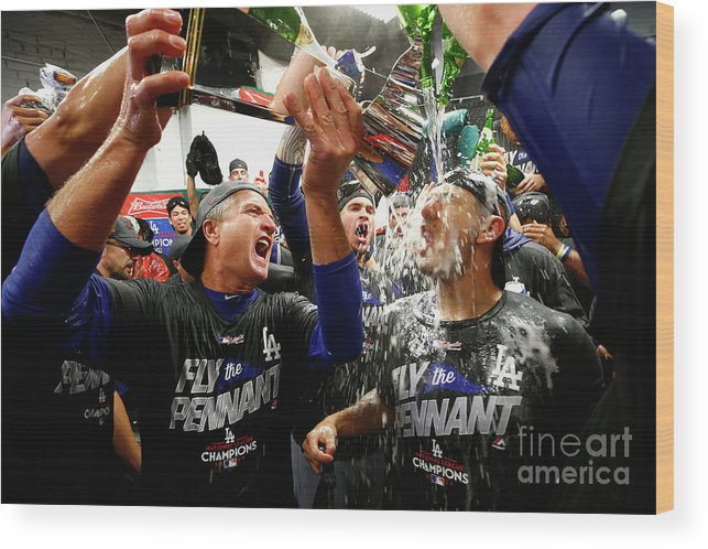 Championship Wood Print featuring the photograph League Championship Series - Los 7 by Jamie Squire