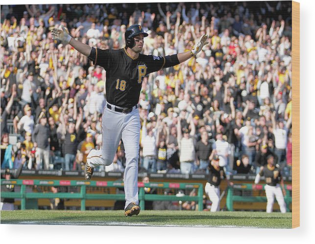 Professional Sport Wood Print featuring the photograph Chicago Cubs V Pittsburgh Pirates by Justin K. Aller