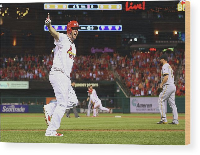 St. Louis Cardinals Wood Print featuring the photograph Pittsburgh Pirates V St. Louis Cardinals 8 by Dilip Vishwanat
