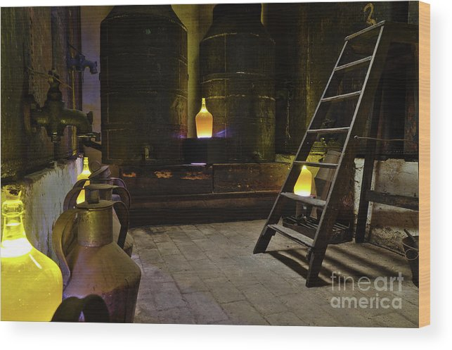 Algarve Wood Print featuring the photograph Antique Olive Oil Factory In Algarve by Angelo DeVal