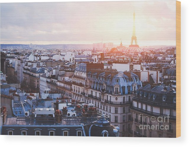 Capital Wood Print featuring the photograph Architecture Of Paris, France by Song about summer