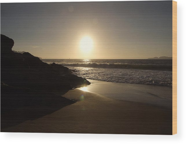 T50yp Wood Print featuring the photograph Baker Beach Sunset Three by Nicholas Miller