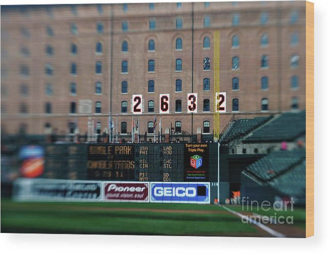 Hanging Wood Print featuring the photograph Baseball - Cal Ripken Hall Of Fame by Icon Sports Wire