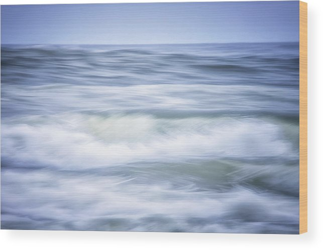 California Wood Print featuring the photograph Brush Strokes Wave Art by Marnie Patchett