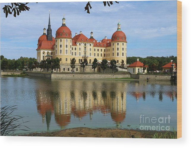 Castle Wood Print featuring the photograph Castle Moritzburg by Christiane Schulze Art And Photography