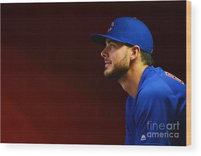 People Wood Print featuring the photograph Chicago Cubs V Arizona Diamondbacks by Jennifer Stewart