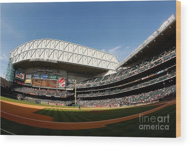 Opening Ceremony Wood Print featuring the photograph Chicago Cubs V Houston Astros by Chris Graythen