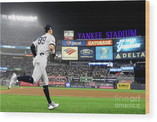 People Wood Print featuring the photograph Divisional Round - Boston Red Sox V New by Elsa