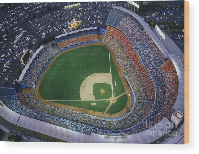 Viewpoint Wood Print featuring the photograph Dodger Stadium by Getty Images