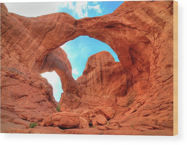 Double Arch Arches National Park Utah Wood Print