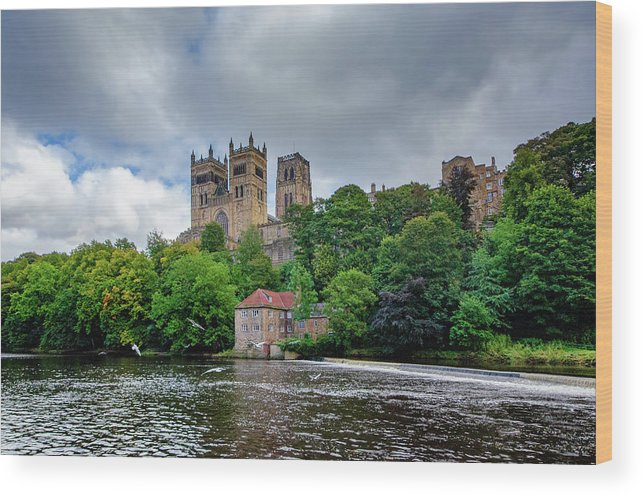 Durham Cathedral Wood Print featuring the mixed media Durham Cathedral by Smart Aviation