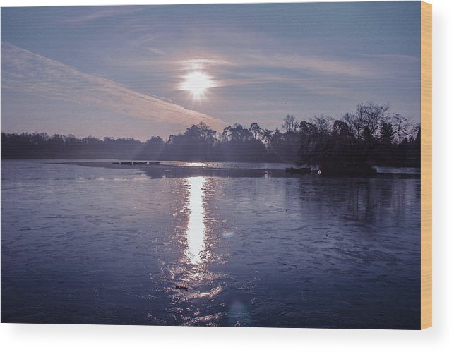 Lake Wood Print featuring the photograph Frozen by Claire Lowe
