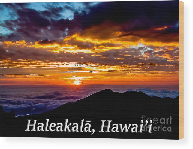 Haleakala Wood Print featuring the photograph Haleakala Hawaii by G Matthew Laughton