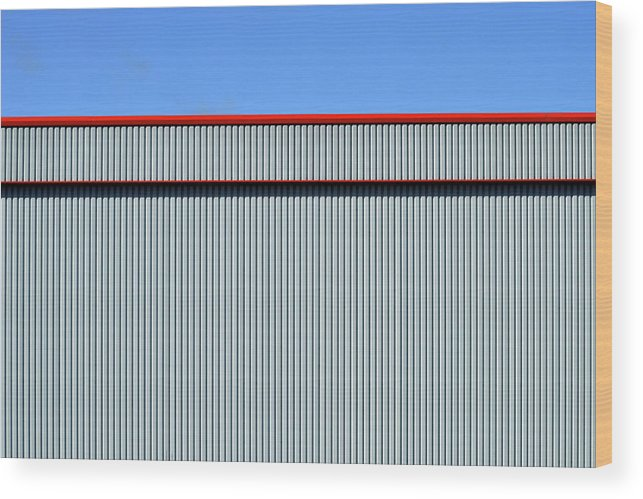 Urban Wood Print featuring the photograph Industrial Minimalism 29 by Stuart Allen