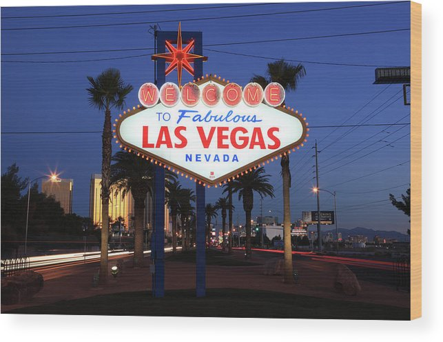 Las Vegas Nevada Wood Print By Jumper