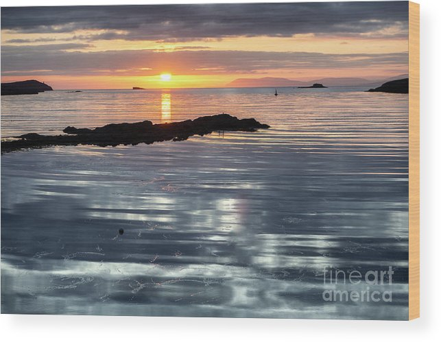 Lochmaddy Wood Print featuring the photograph Lochmaddy Sunrise by Richard Burdon