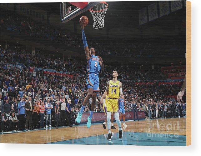Nba Pro Basketball Wood Print featuring the photograph Los Angeles Lakers V Oklahoma City by Joe Murphy