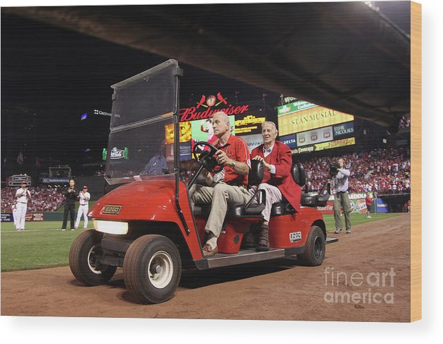 Emergence Wood Print featuring the photograph Milwaukee Brewers V St. Louis Cardinals by Christian Petersen