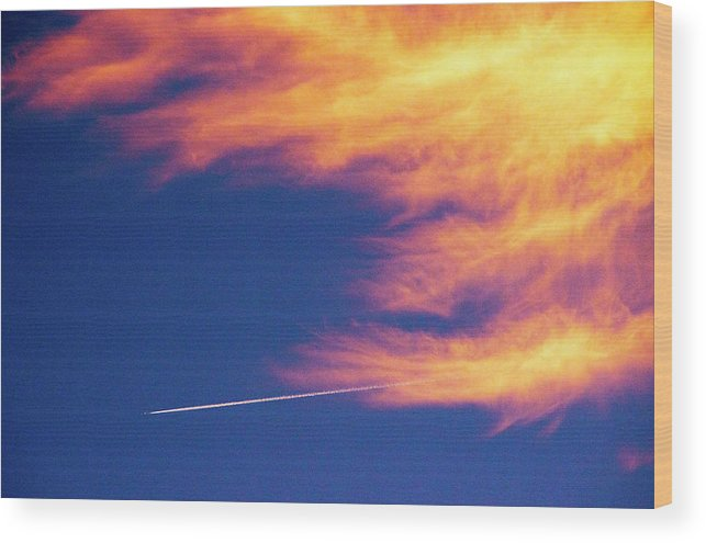 D1-l-1076-d Wood Print featuring the photograph Out Racing The Devil by Paul W Faust - Impressions of Light