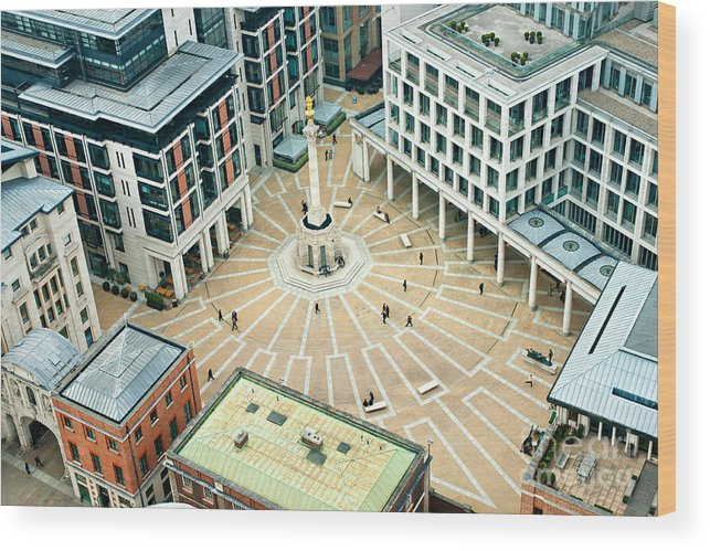 London Wood Print featuring the photograph Paternoster Square, London. It Is An by Luciano Mortula - Lgm