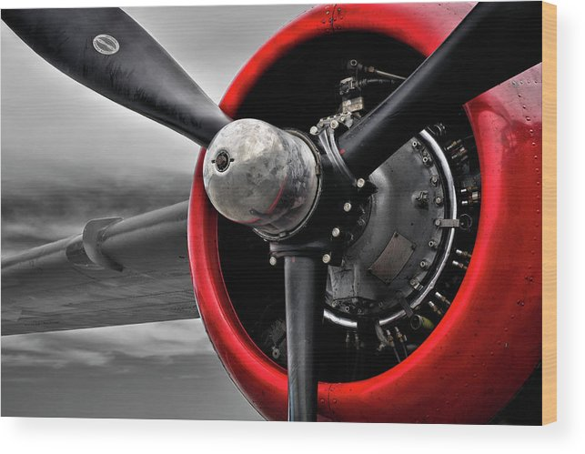 Plane Wood Print featuring the photograph Red Hot Bomber by Luke Moore