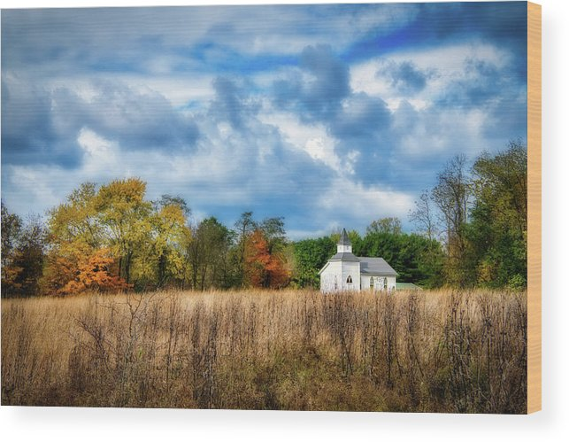 Church Wood Print featuring the photograph Rural Church by Tom Mc Nemar