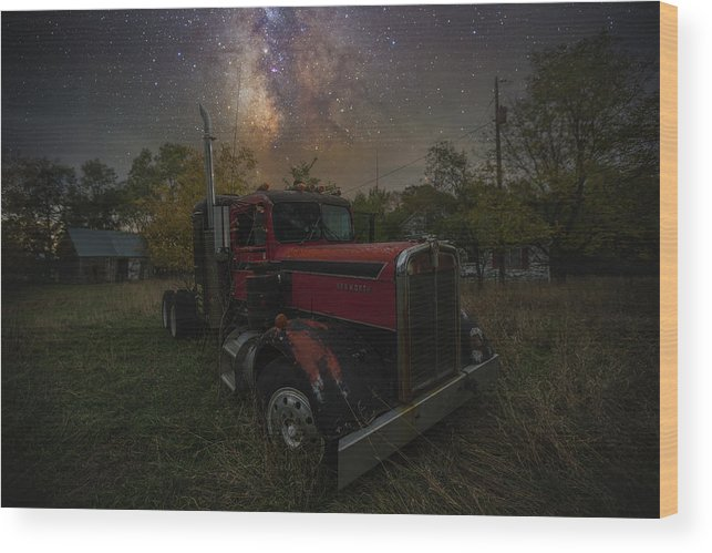 Truck Wood Print featuring the photograph Rusty by Aaron J Groen