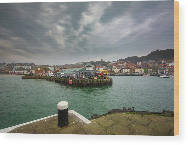 Scarborough Wood Print featuring the mixed media Scarborough Harbour by Smart Aviation