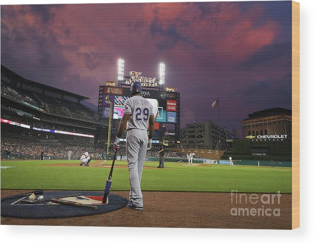 Adrian Beltre Wood Print featuring the photograph Texas Rangers V Detroit Tigers by Gregory Shamus