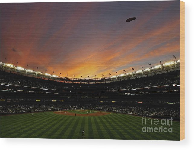 Playoffs Wood Print featuring the photograph Texas Rangers V New York Yankees, Game 5 by Nick Laham