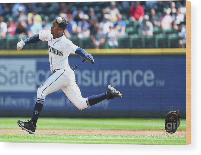People Wood Print featuring the photograph Texas Rangers V Seattle Mariners by Abbie Parr