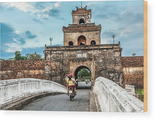 Capital Wood Print featuring the photograph The Palace Gate, Imperial Palace Moat by 06photo