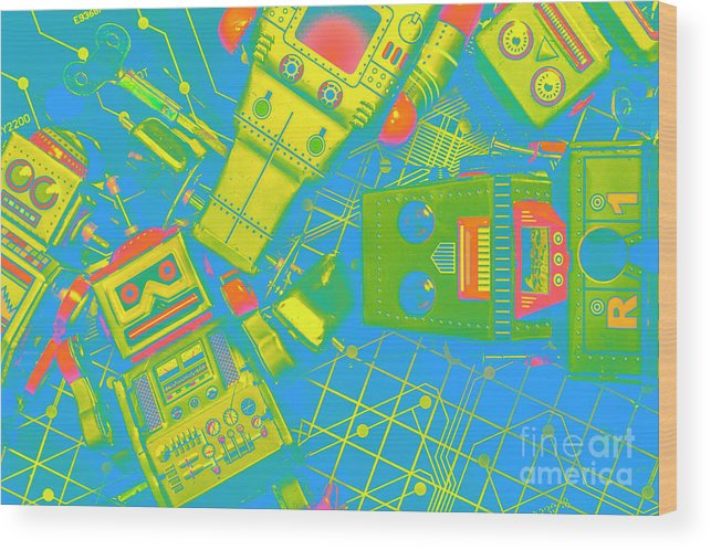 Electronics Wood Print featuring the photograph The Wonderful Future - A Playtime Pretend by Jorgo Photography - Wall Art Gallery