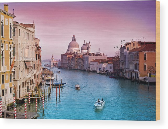 Arch Wood Print featuring the photograph Venice Canale Grande Italy by Dominic Kamp Photography