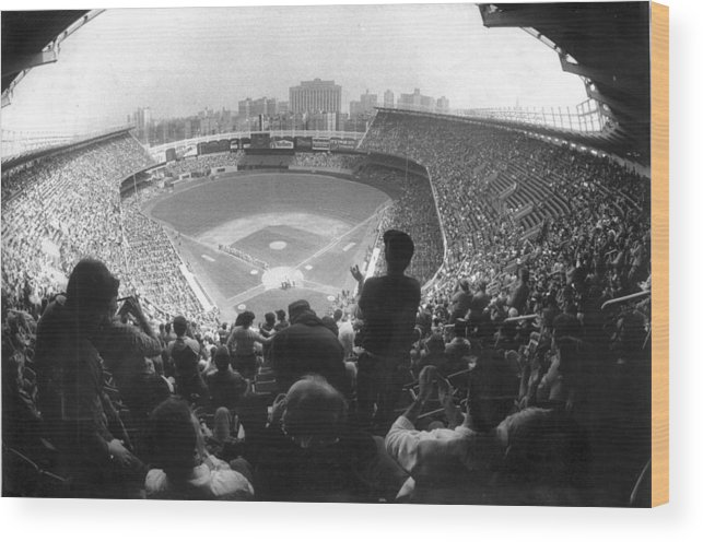 1980-1989 Wood Print featuring the photograph Yankee Stadium Is Packed For The New Y by New York Daily News Archive