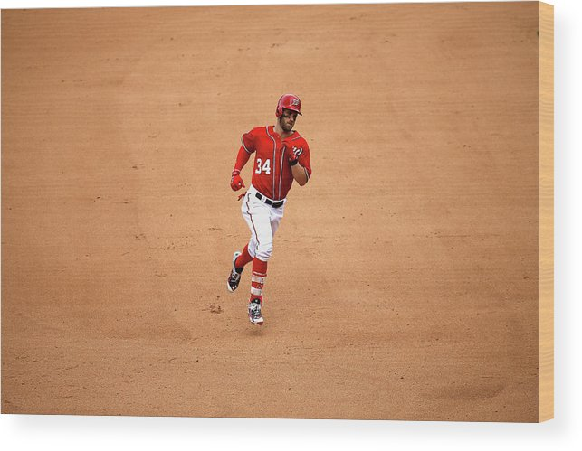 People Wood Print featuring the photograph Bryce Harper by Rob Carr