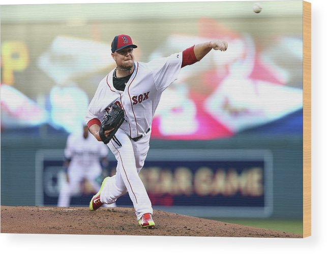 People Wood Print featuring the photograph Jon Lester by Elsa