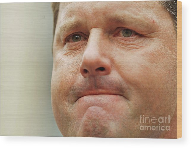 American League Baseball Wood Print featuring the photograph Roger Clemens by Chip Somodevilla