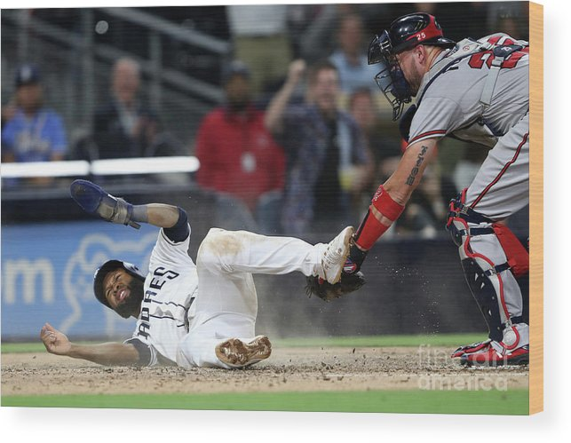 People Wood Print featuring the photograph Tyler Flowers And Manuel Margot by Sean M. Haffey