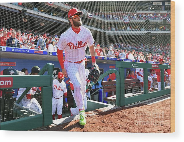 People Wood Print featuring the photograph Bryce Harper by Drew Hallowell