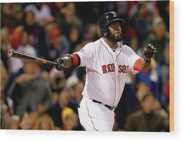 Second Inning Wood Print featuring the photograph David Ortiz by Elsa
