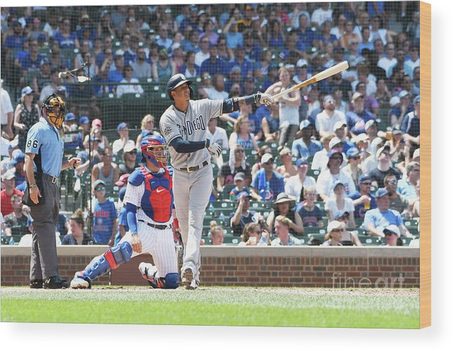 People Wood Print featuring the photograph Manny Machado by David Banks