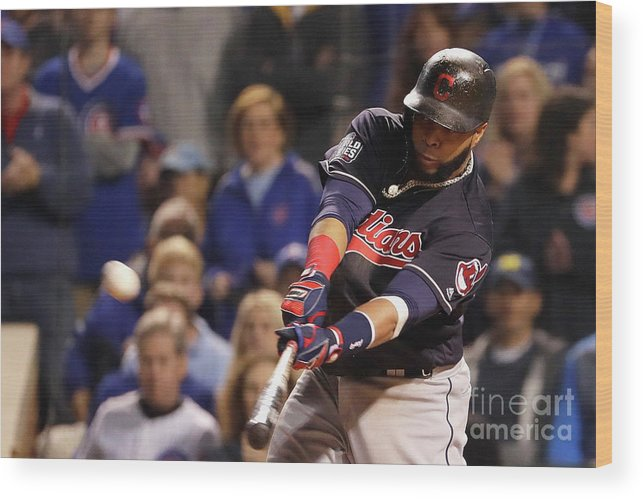 Second Inning Wood Print featuring the photograph Carlos Santana by Jamie Squire