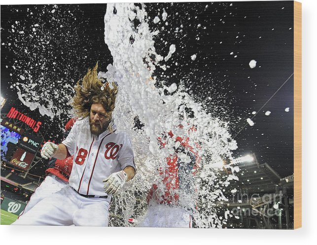 Ninth Inning Wood Print featuring the photograph Jayson Werth by Patrick Smith