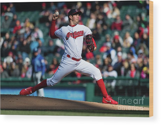 People Wood Print featuring the photograph Trevor Bauer by Jason Miller
