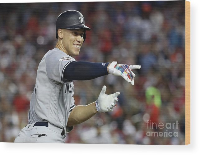 Second Inning Wood Print featuring the photograph Aaron Judge by Rob Carr