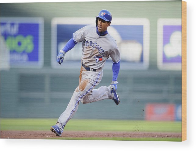 Game Two Wood Print featuring the photograph Anthony Gose by Hannah Foslien