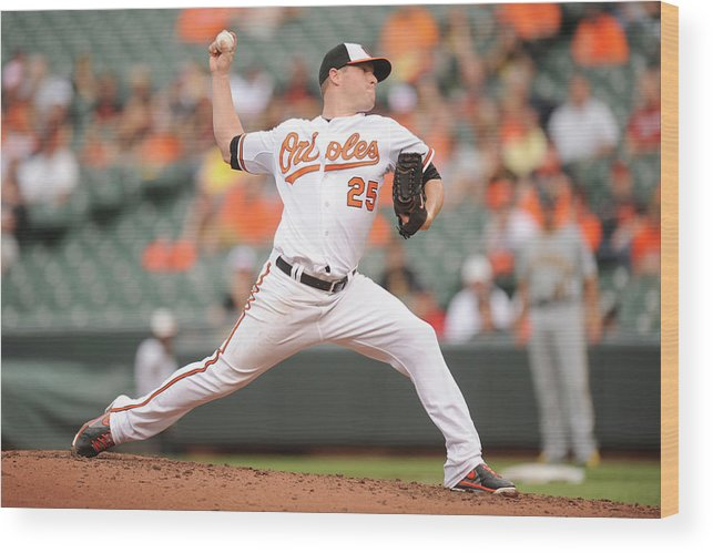 Second Inning Wood Print featuring the photograph Bud Norris by Mitchell Layton