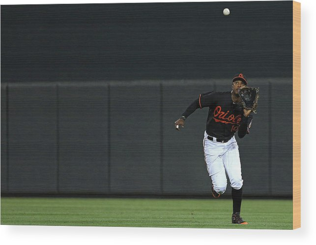People Wood Print featuring the photograph Carlos Beltran And Adam Jones by Patrick Smith