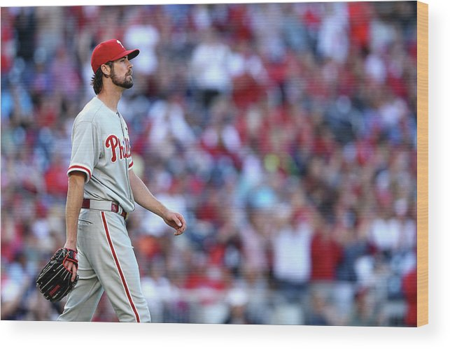 Three Quarter Length Wood Print featuring the photograph Cole Hamels by Patrick Smith